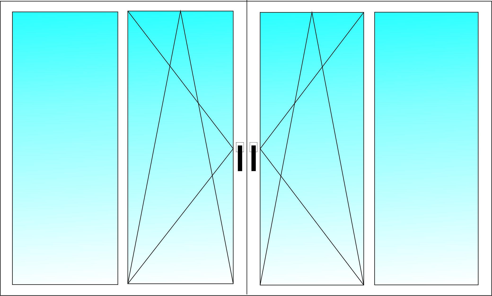 Балконная рама PLAFEN 3-х камерный профиль с однокамерным стеклопакетом 1500х2500 мм
