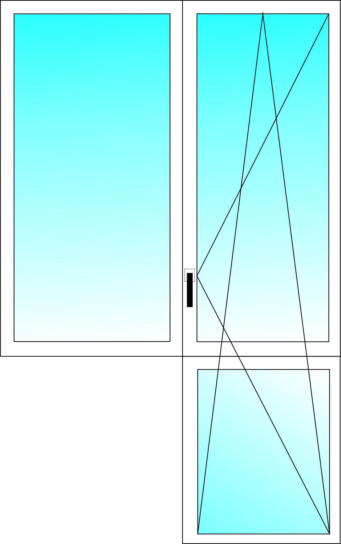 Балконный блок WDS 300 3-х камерный профиль с двухкамерным энергосберегающим стеклопакетом 1400х1350, 2150х700 мм