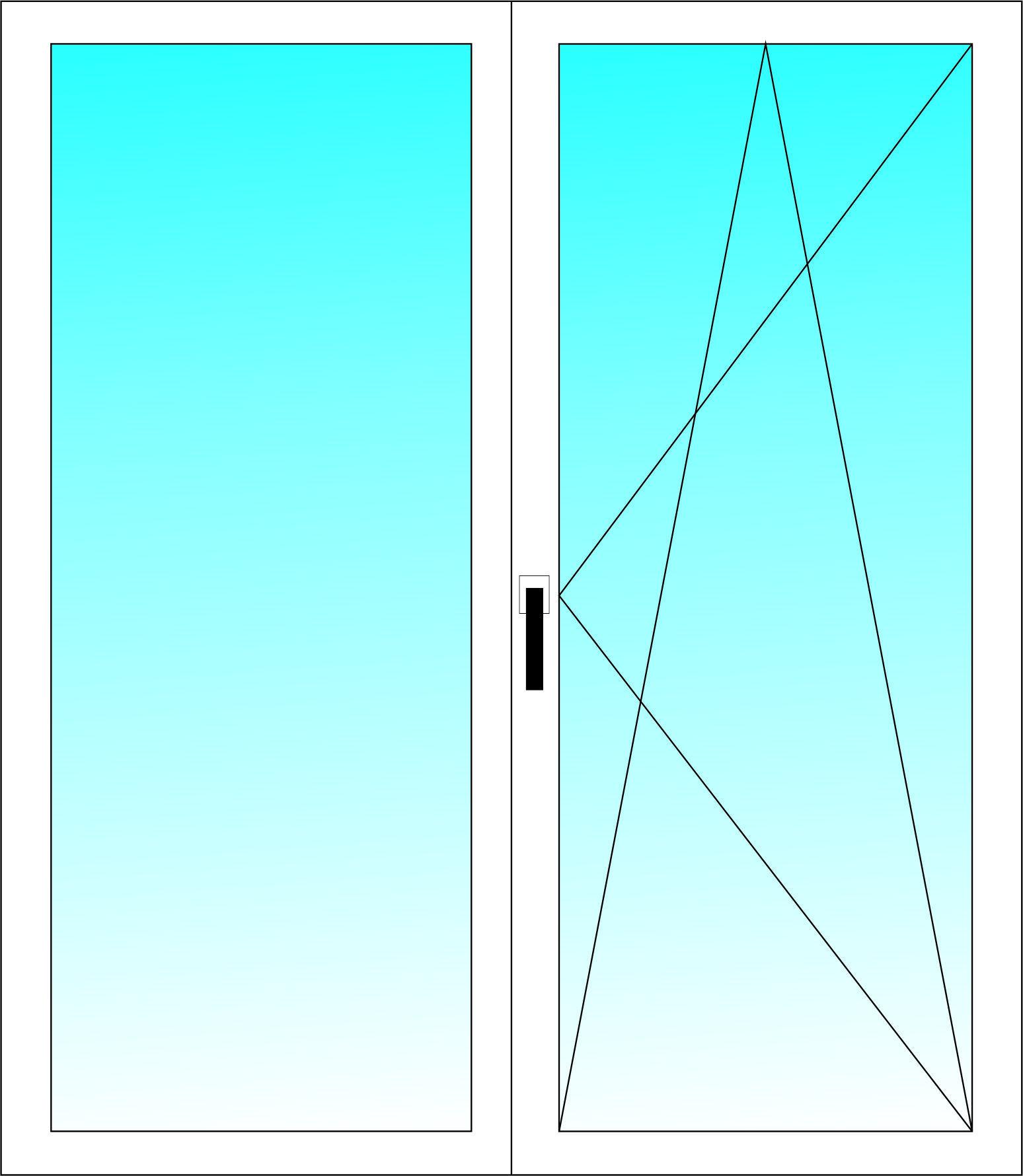Окно двухстворчатое ALUPLAST 5-ти камерный профиль с однокамерным стеклопакетом 1400х1400 мм