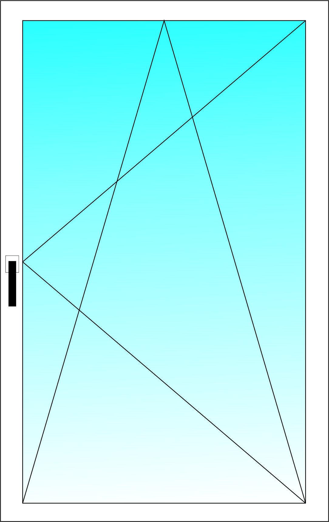Окно поворотно-откидное ALUPLAST 3-х камерный профиль с двухкамерным энергосберегающим стеклопакетом 1000х700 мм