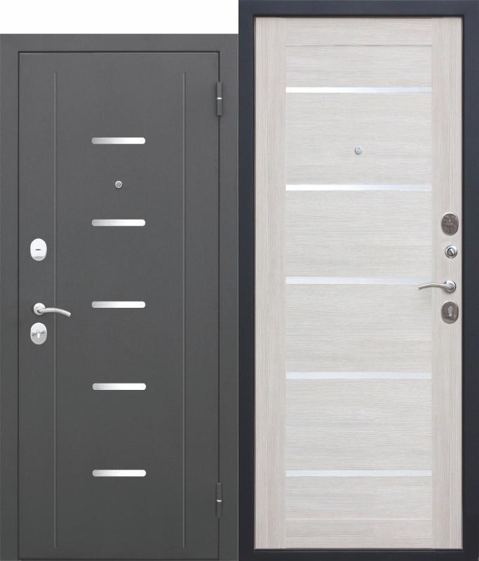 Входная дверь 7,5 Гарда Муар, ЦАРГА, Лиственница беж