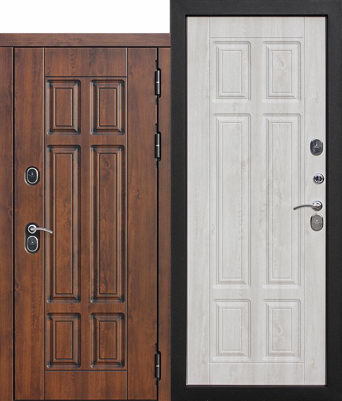 Входная морозостойкая дверь c ТЕРМОРАЗРЫВОМ 13 см (Isoterma), МДФ/МДФ, Сосна белая
