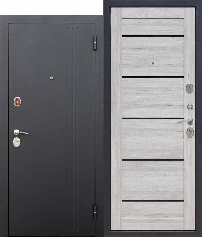Входная дверь 7,5 см НЬЮ-ЙОРК, Царга, Дуб санремо светлый