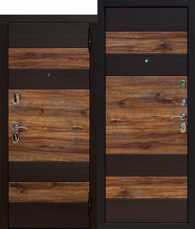 Входная дверь 9,5 см ОКСФОРД, Венге темный / Дуб бомонд лофт
